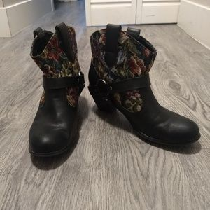 Floral Western Bootie